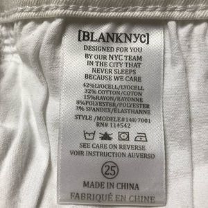 Blank NYC Jeans - Blank NYC White Skinny Destroyed Jeans Size 25